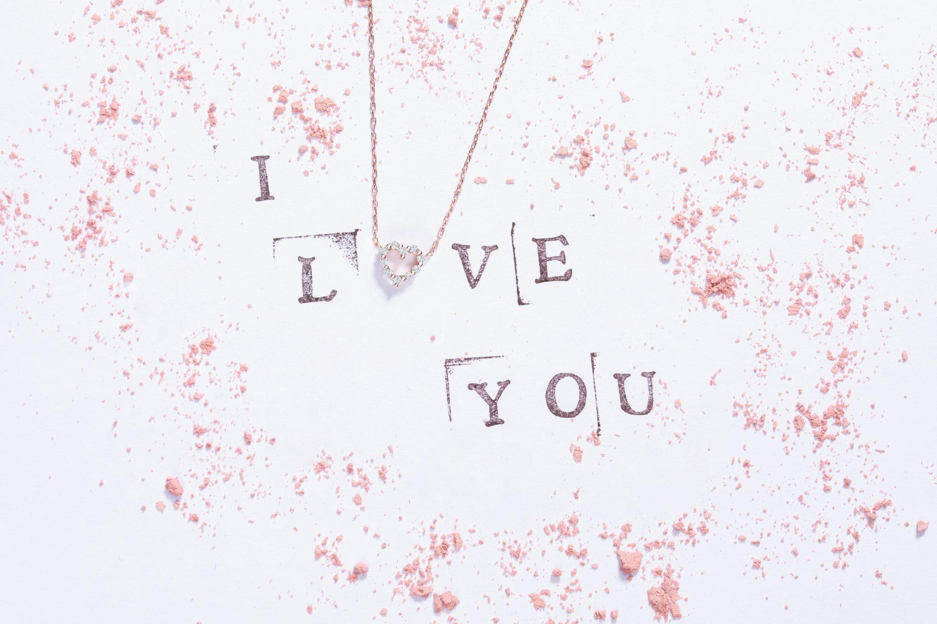 San Valentín Mumit gargantilla corazón oro diamantes
