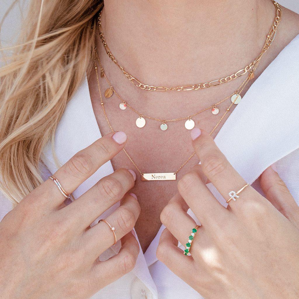 Idea de regalo joyas personalizadas de oro de 18 Kt y diamantes